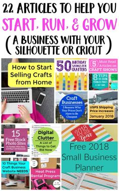 22 Articles to Help You Start, Run, & Grow a Silhouette or Cricut Business - Cutting for Business Tshirt Business, Etsy Business, Craft Business, Business Ideas, Business Articles, Business Help, Business Quotes, Creative Business, Online Business