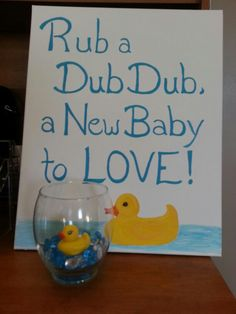 Jessi's Rubber ducky theme original artwork and centerpieces