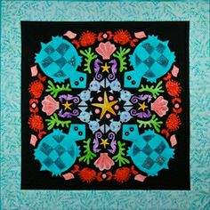 Turquoise Turtles Circle of Friends Series By The Quilted Lizard | Quilterswarehouse