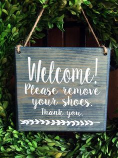 Please Remove Shoes Sign No Door Signs 7x8 Hanger Front Welcome