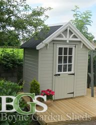 Cottage style garden shed.Boyne garden sheds. High quality garden sheds in Ireland Garden Sheds, Cottage Style, Ireland, Outdoor Structures, Ideas, Chalet Style, Garden Cottage, Irish, Thoughts