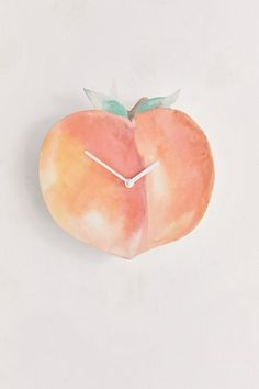 Shop Peach Wall Clock at Urban Outfitters today. Peach Rooms, Peach Bedroom, Peach Walls, Plywood Furniture, Modern Furniture, Furniture Design, Wall Clock Urban Outfitters, Chair Eames, Peach Decor