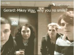 """He's smiling right now! How bout dat? How bout dat?"" -Gerard"