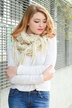 gold lurex infinity knit tassel scarf cute fashion layer leto wholesale cozy scarves pastel bright
