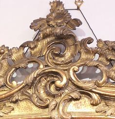 carved mirror - detail