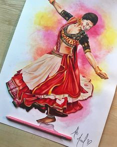 Sketch Drawing Colour - Deepika Padukone Ram Leela Drawing Prismacolors Colouring Pencils Pin By Lavanya Valluri On With Images Color Pencil Free Hand Sketch With Colou. Fashion Drawing Dresses, Fashion Illustration Dresses, Pencil Art Drawings, Art Drawings Sketches, Sketch Drawing, Sketching, Color Pencil Sketch, Illustration Art Nouveau, Dancing Drawings