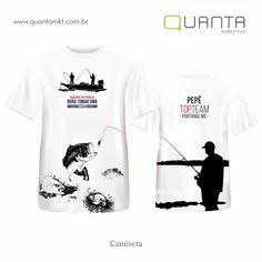 Camiseta - Equipe de pesca - BORA TOMAR UMA