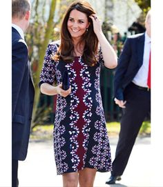 Brilliant in Blue: Kate Middleton Covers Her Royal Baby Bump in a Floral Frock…