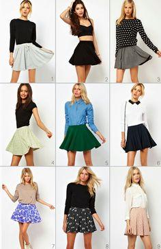 blusas para una falda ala cintura - Buscar con Google