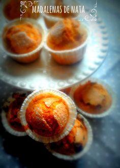 Madalenas de Nata / milk cream madeleines