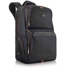 """Solo Pro 17.3"""" Laptop Backpack , Black, UBN701-4"""