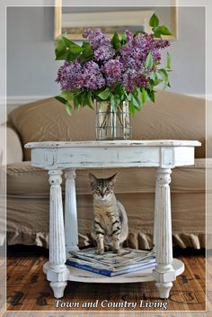 Lilacs and Vintage Mirrors - Town & Country Living
