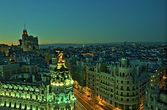 The capital of Spain, Madrid is located in the heart of the peninsula. Madrid is one of the biggest and most cosmopolitan cities in Europe. Madrid is characterized by its beautiful architecture, astonishing art galleries, intense cultural activities and a lively nightlife.   ( Pic by flickr user felipe_gabaldon)