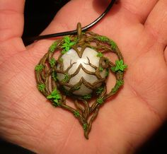 Heart of the Moonkin - handsculpted Pendant by Ganjamira.deviantart.com on @deviantART