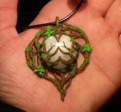 Heart of the Moonkin - handsculpted Pendant by Ganjamira.deviantart.com on @deviantART