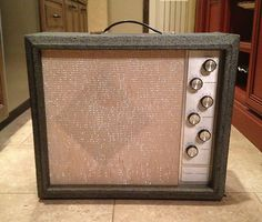 "This is the Silvertone amp that accompanied me to my audition at the apollo theatre they snickered when i set up with my sears and roebuck equipment. but then I impressed them with my solo version of ""soul finger"" and gained their respect"