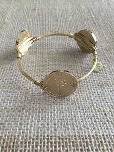 Bourbon and Boweties Gold Logo Coin Large Wrist