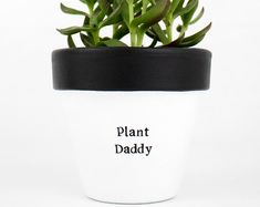 Modern personalized eco-friendly plant pots & by ChickadeePots Thank You Teacher Gifts, Teacher Christmas Gifts, Teacher Appreciation Gifts, Succulent Pots, Planting Succulents, Plant Pots, Diy Gifts For Dad, Gifts For Father, Garden Gifts