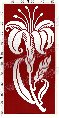 Cross Stitch Rose, Cross Stitch Borders, Cross Stitch Flowers, Cross Stitching, Cross Stitch Embroidery, Embroidery Patterns, Crochet Motifs, Filet Crochet, Crochet Chart