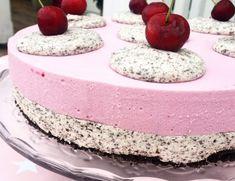 Frisk glutenfri ostekake med bringebærgele – Cake before cardio Frisk, Vanilla Cake, Cardio, Desserts, Food, Tailgate Desserts, Deserts, Essen, Postres