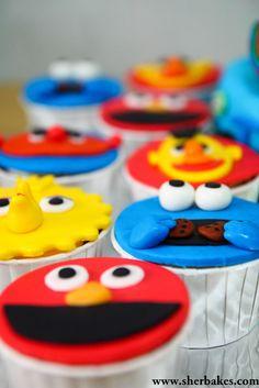 Life is too short, Eat Desserts: Sesame Street Cake + Cupcakes