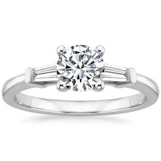 18K White Gold Tapered Baguette Diamond Ring (1/5 ct. tw.) from Brilliant Earth