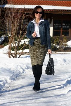 STYLE MIX ELEGANT LEOPARD AND CASUAL DENIM   Lady of Style