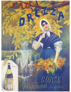Affiches anciennes eau-soda-coca