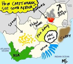 So a little education on a Saturday morning: How Cape Townians see South Africa Funny As Hell, Funny Me, Funny Jokes, Hilarious, African Jokes, Sarcasm Humor, Africa Fashion, South Africa, Funny Pictures