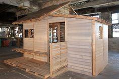 I-BeamDesign pallet house | Recyclart