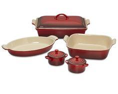 Le Creuset Stoneware 8-Piece Bakeware Set #williamssonoma