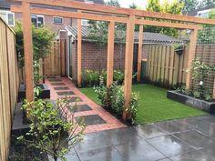 43 beautiful small backyard landscaping designs for tiny yards 30 Backyard Ideas For Small Yards, Small Backyard Landscaping, Ponds Backyard, Landscaping Ideas, Small Garden Design, Garden Landscape Design, Back Gardens, Small Gardens, Gras