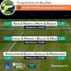 Fase de Qualifying do Wimbledon e Open ATP Nottingham: http://bit.ly/raja-martin-vs-motti-robert-nottingham-Da_Silva http://bit.ly/inglot-murray-vs-bellucci-melo-nottingham-Da_Silva http://bit.ly/marcel-granollers-x-gilles-simon-nottingham-JoelSant0s http://bit.ly/petzchner-erlich-vs-koolhof-middelkoop-wimbledon-Da_Silva  Bónus de Múltiplas em Ténis: http://bit.ly/50-de-bonus-nas-apostas-multiplas-em-tenis  #apostasdesportivas #apostasonline #apostas #tennis #ténis #Wimbledon2015 #tén
