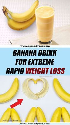 Banana Drink for Extreme Rapid Weight Loss Health healthy health_and_wellbeing healthy_habits Weight Loss Meals, Diet Food To Lose Weight, Weight Loss Drinks, Weight Loss Smoothies, Healthy Smoothies, Healthy Drinks, How To Lose Weight Fast, Diet Drinks, Extreme Weight Loss