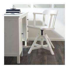 FEODOR Swivel chair with armrests - white - IKEA