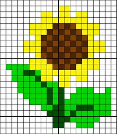Sunflower cross stitch. Flower cross stitch.