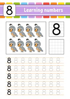 Trace and write. Preschool Writing, Numbers Preschool, Learning Numbers, Learning To Write, Writing Numbers, Math Numbers, Preschool Activities, Kindergarten Goals, Kids Math Worksheets
