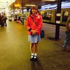 Katie on the way to Blackpool