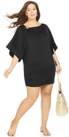 Plus Size Banded Cover Up