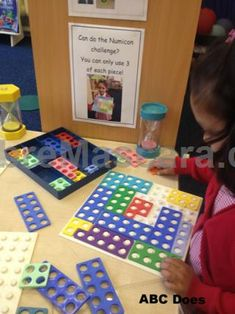 Use in sand area (can you find 2 pieces of numicon that make 10 - laminated card) individual challenge cards on continuous provision Year 1 Maths, Early Years Maths, Early Years Classroom, Early Math, Early Learning, Year 1 Classroom, Maths Eyfs, Eyfs Classroom, Classroom Ideas
