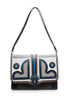 Graphic Perforated Leather Shoulder Bag by Paula Cademartori Now Available on Moda Operandi