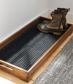 diy furniture Find the best Everyspace Recycled Waterhog Boot Mat at . Our high quality home goods are designed to help turn any space into an outdoor-inspired retreat. Home Organization, Home Storage Ideas, Organizing Ideas, Diy Storage Projects, Thirty One Organization, Woodworking Organization, Sweet Home, New Homes, Boot Tray