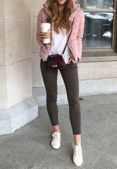 combinar chaqueta lana rosa