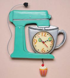 Mixer Clock Keep Track Of Time With This Whimsical Pendulum Wall Clock From  Michelle Allen Designs