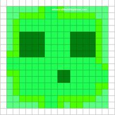 Minecraft Pixel Art Templates - Slime