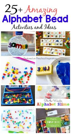 Here are 25+ inviting alphabet activities with my all-time favorite alphabet beads!