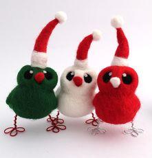 Santa's Little Helper Bird Christmas Decoration