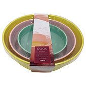 Tesco Pastel Melamine Bowls 3pc Set