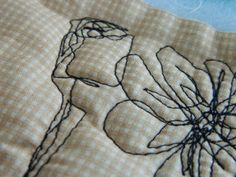 Free motion quilting pattern flowers