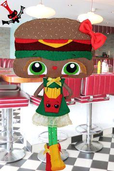 RESERVED Hannaburger felt doll burger head by camamiel on Etsy